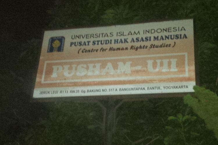 Pusham UII Lokasi Pameran Lukisan yang dibubarkan Pemuda Pancasila, Senin 98/5/2017).