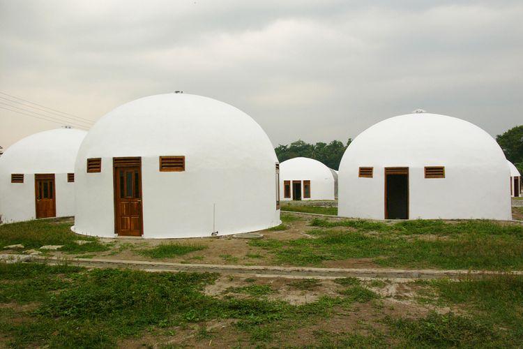 Rumah dengan arsitektur dome
