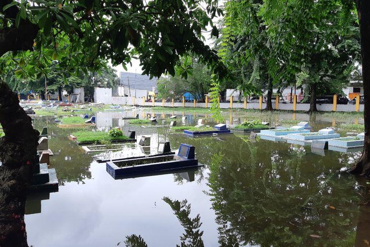 Tempat Pemakaman Umum (TPU) Tegal Alur, Kalideres, Jakarta Barat, Kamis (20/2/2020)
