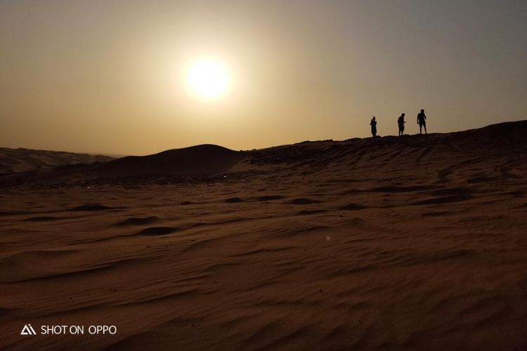 Gurun pasir di Dubai, Uni Emirat Arab.