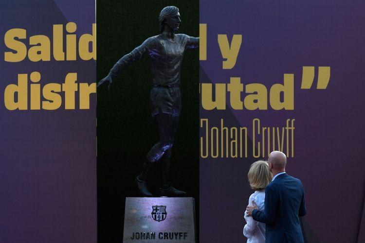 Patung legenda Barcelona, Johan Cruyff.