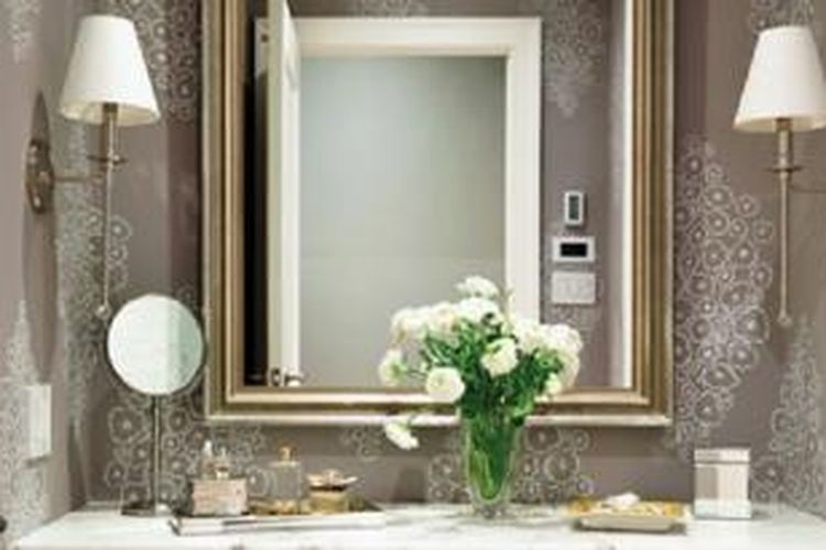 Wallpaper multiguna untuk berbagai kondisi kamar mandi.