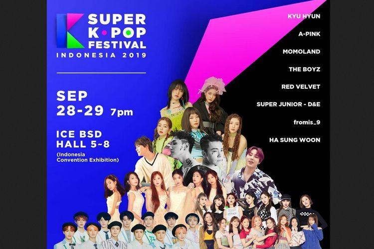 Poster Super Kpop Festival.