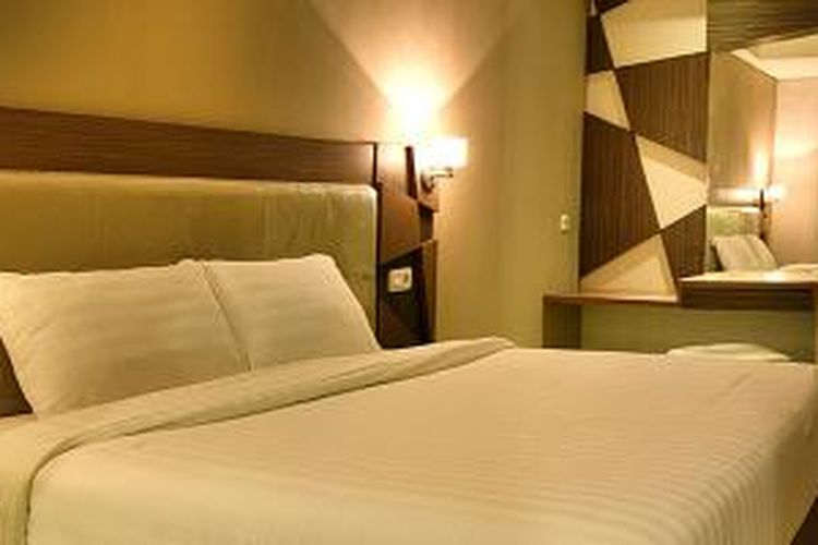 Salah satu kamar di Hotel Dafam Fortuna Malioboro Yogyakarta.