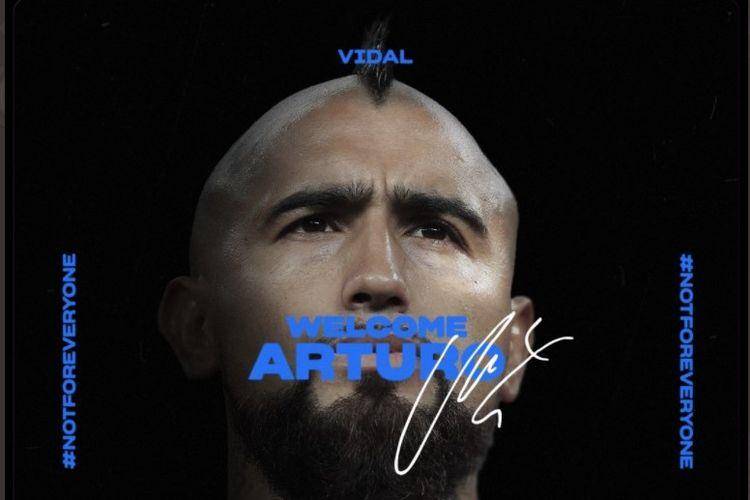 Arturo Vidal ke Inter Milan.