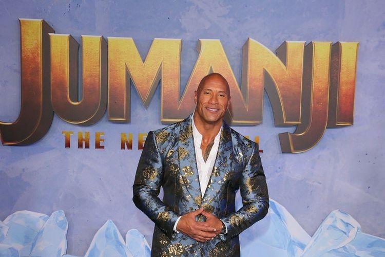 Aktor asal AS Dwayne Johnson menghadiri pemutaran perdana film Jumanji: The Next Level di TCL Chinese di Hollywood pada 9 Desember 2019.