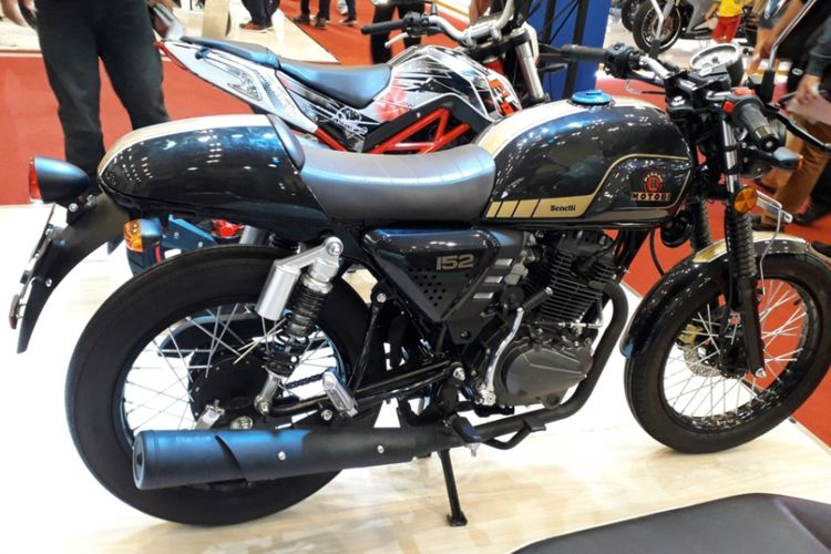 Motobi 152, motor sport retro yang diperkenalkan PT Benelli Anugerah Motor Pusaka di pameran Gaikindo Indonesia International Auto Show (GIIAS) 2018.