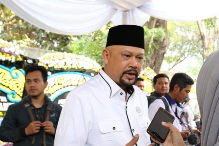 Kepala BPPT, Hammam Riza, saat menghadiri pemakaman BJ Habibie pada Kamis (12/9/2019).