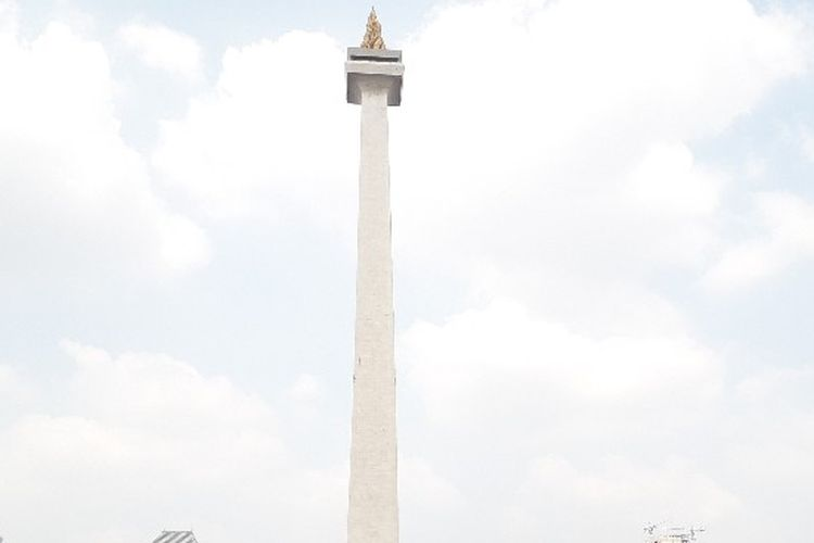 Tugu Monumen Nasional (Monas), Gambir, Jakarta Pusat, Sabtu (16/6/2018)