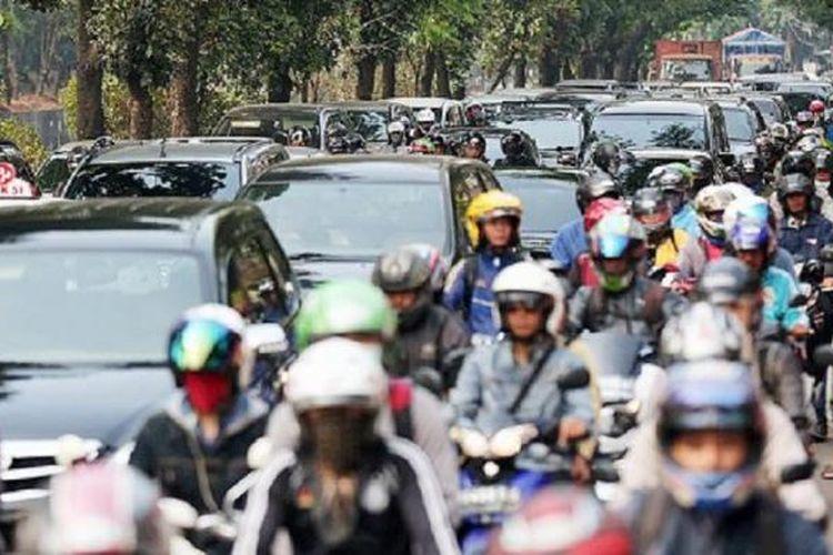 Ilustrasi kemacetan jalanan Jakarta.