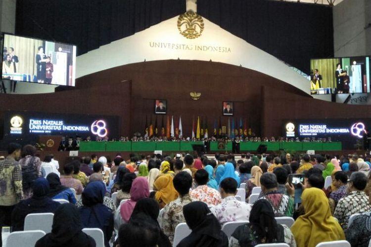 Suasana Dies Natalis Universitas Indonesia (UI) di Depok, Jumat (2/2/2018)