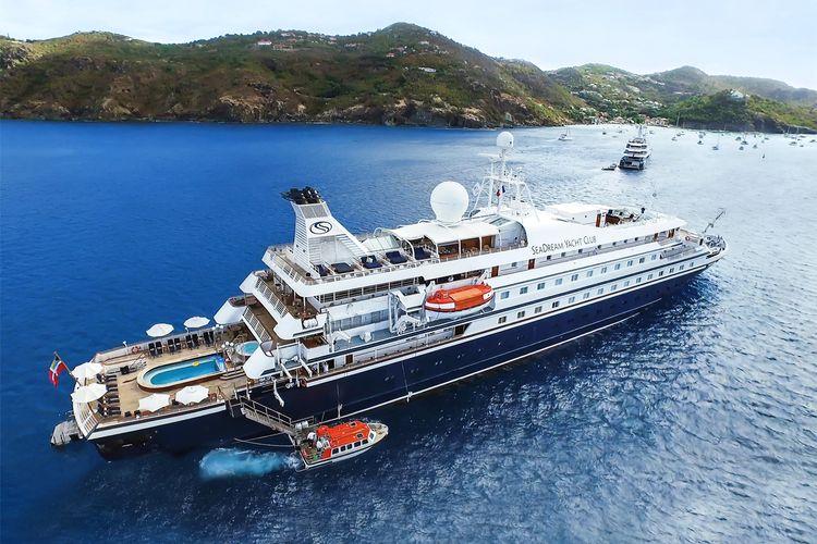 Ilustrasi kapal pesiar - Kapal pesiar SeaDream Yacht Club.