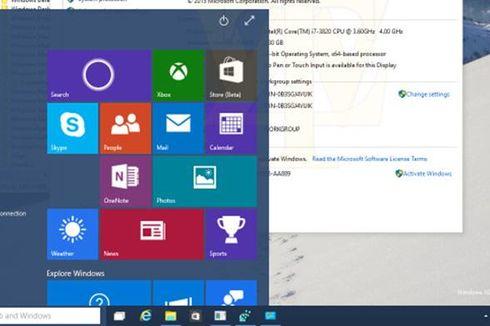 Beginikah Tampilan Menu Start Windows 10?