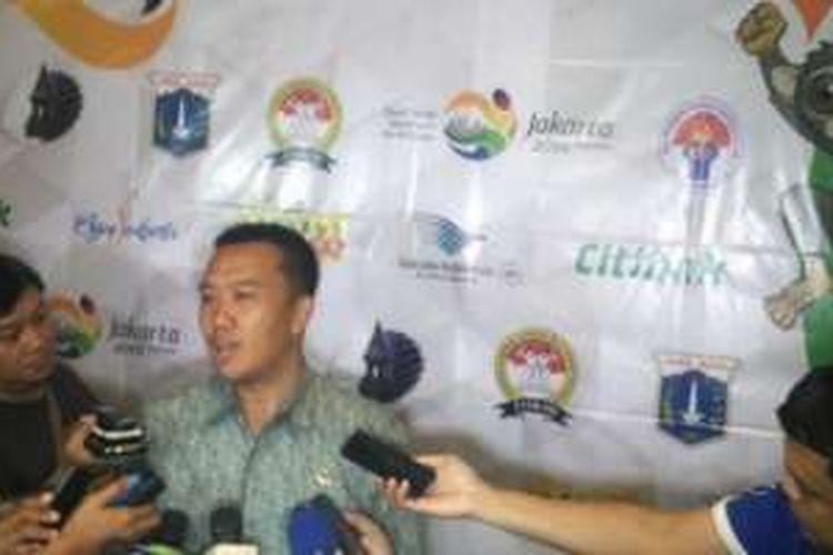 Menpora Imam Nahrawi dalam sesi jumpa pers pada acara talkshow Tafisa Games 2016 di Hotel Century Park, Jakarta, Selasa (13/9/2016).