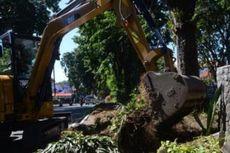 Perbaiki Taman Rusak karena Bagi-bagi Es Krim, Alat Berat Diturunkan