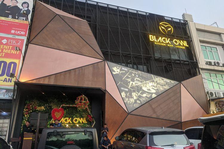 Kafe Black Owl, Pantai Indah Kapuk, Penjaringan, Jakarta Utara, Senin (17/2/2020)
