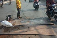 Jalan Amblas di Depan Balai Latihan Kerja Ciracas Sudah Diperbaiki