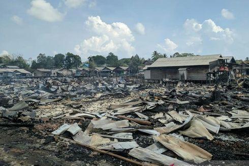 Mapolsek dan Asrama Polisi Ikut Terbakar Bersama 200 Rumah Warga di Kotabaru