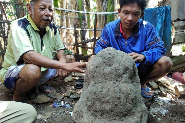 Arca unfinished yang ditemukan di Desa Gondang, Kecamatan Pace, Kabupaten Nganjuk, Senin (14/6/2021).