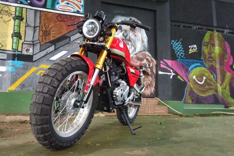 Yamaha Scorpio bergaya street tracker garapan Diwa Creative Studio