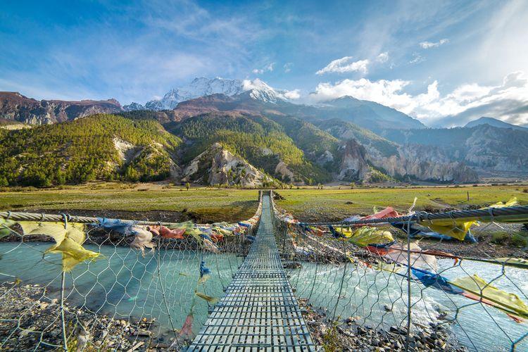 Annapurna Circuit trek di Nepal.