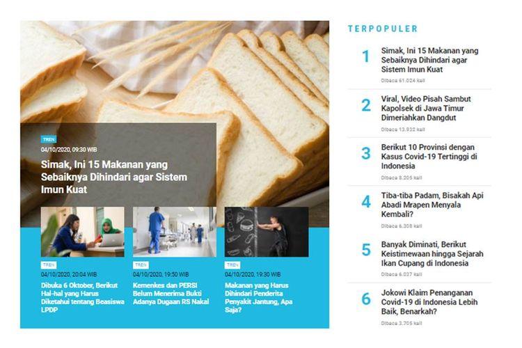 Berita populer 5 Oktober: 15 makanan yang dihindari untuk sistem imun tubuh kuat | Polemik seputar Omnibus Law atau RUU Cipta Kerja.