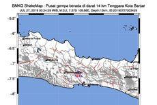 Majenang 2 Kali Diguncang Gempa, Bukti Sesar Citanduy Masih Aktif