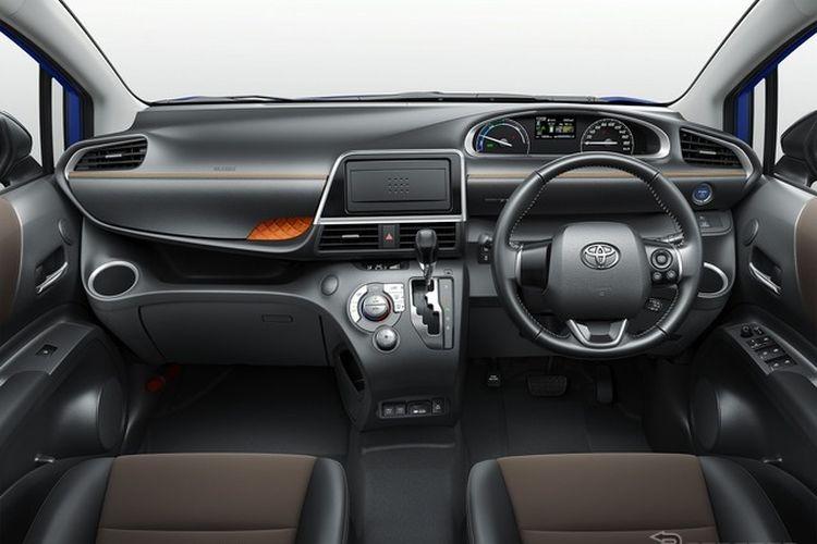 Ilustrasi dasbor Toyota Sienta versi JDM
