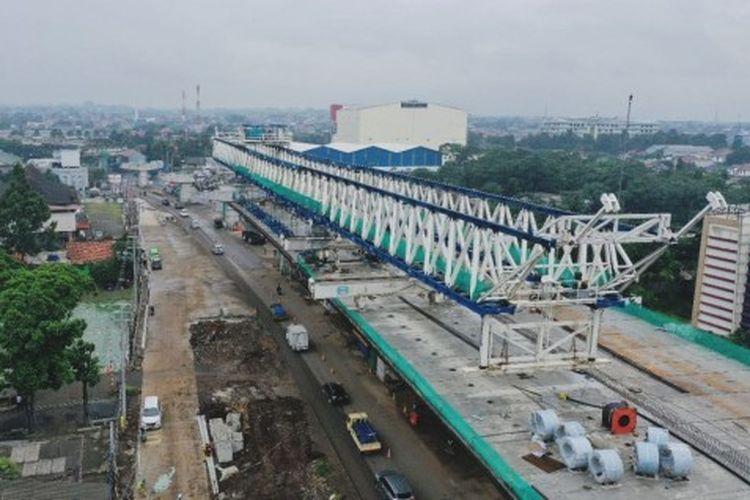 Ilustrasi proses konstruksi jalan tol BORR.