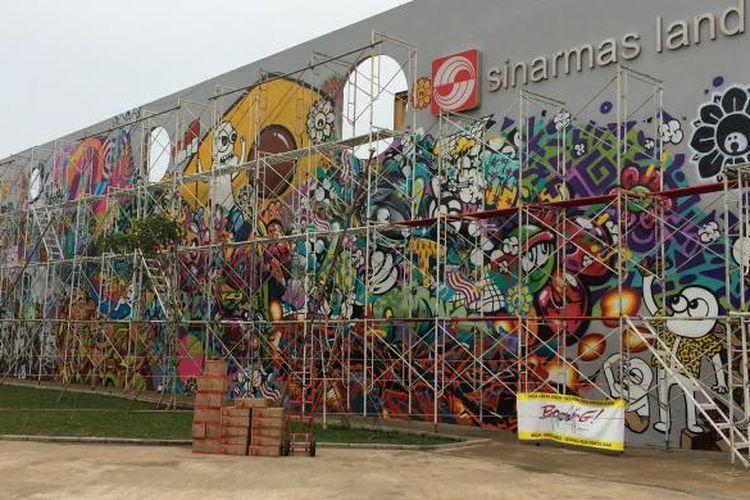 Mural di Kalijodo, Penjaringan, Jakarta Utara.