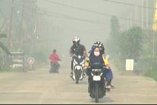 Kabut Asap Selimuti Permukiman Warga di Bengkalis