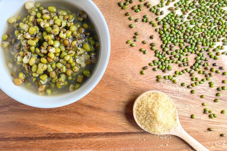 Ilustrasi bubur kacang hijau jahe.