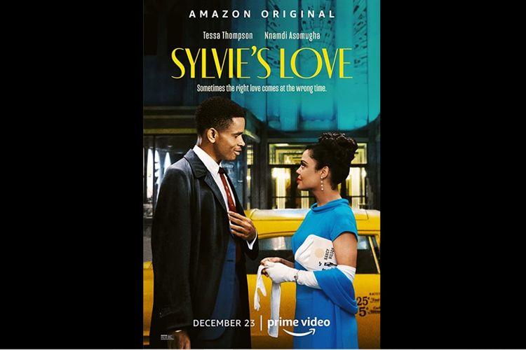 Tessa Thompson dan Nnamdi Asomugha dalam film drama Sylvies Love (2020).