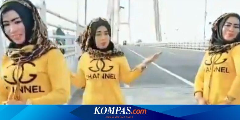 Tiga Wanita yang Joget TikTok di Jembatan Suramadu