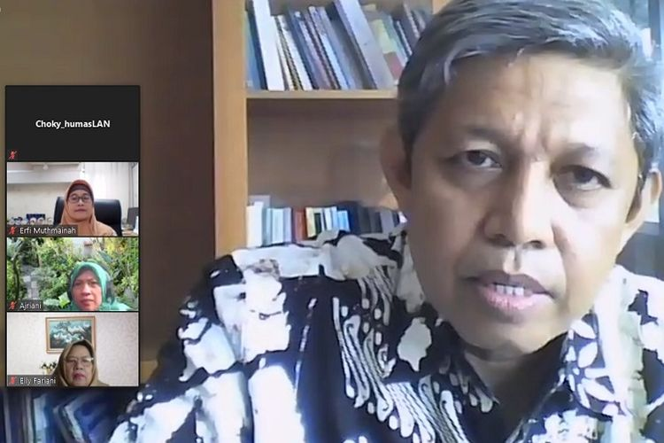 Knowledge Sharing Lembaga Administrasi Negara (LAN) dengan Global Green Growth Institute, melalui video conference, Jumat (5/6/2020).