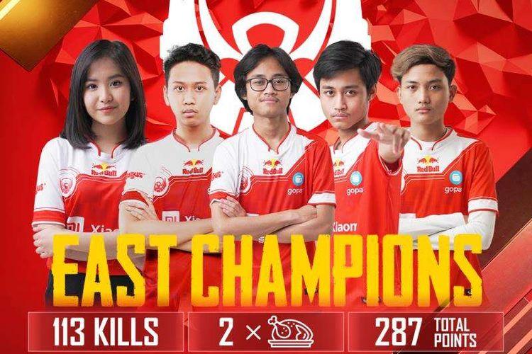 Tim eSport Bigetron Red Aliens (Bigetron RA) berhasil menjadi juara Grand Final PMWL Season Zero 2020 Wilayah Timur.