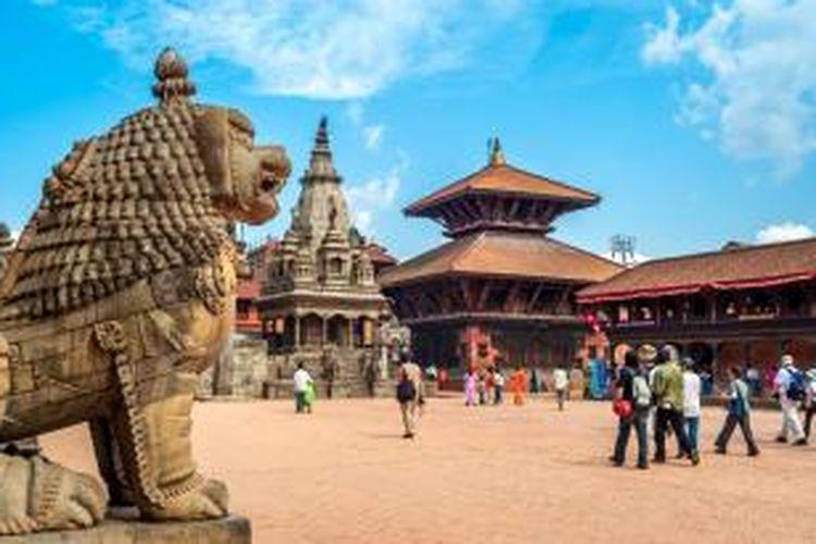 Lapangan Durbar di Bhaktapur, Nepal.
