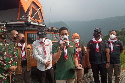 Resmikan Pembangunan Jembatan Gantung di Puncak Bogor, Sandiaga: Ini Akan Jadi Episentrum Ecotourism Dunia