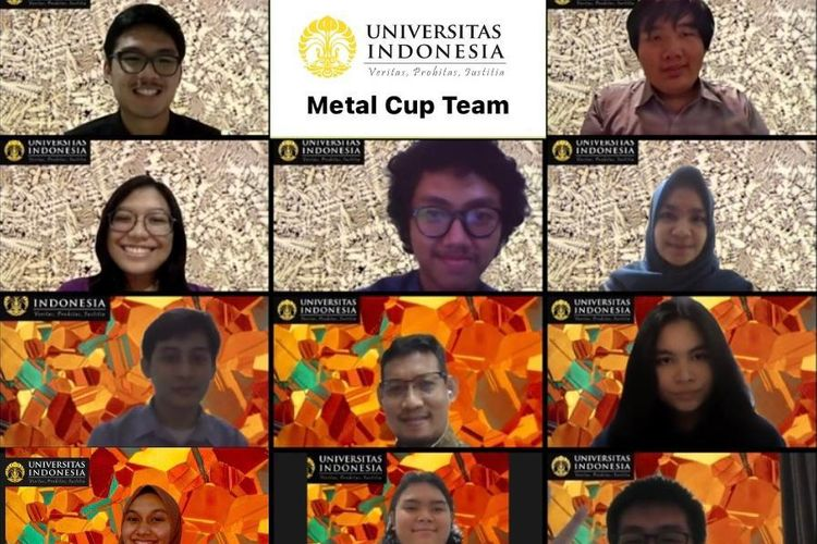 Sepuluh mahasiswa Program Studi Teknik Metalurgi dan Material, Fakultas Teknik Universitas Indonesia (FTUI) berhasil meraih Juara Tiga Dunia pada ajang kompetisi internasional ?Metal Cup 2020?.