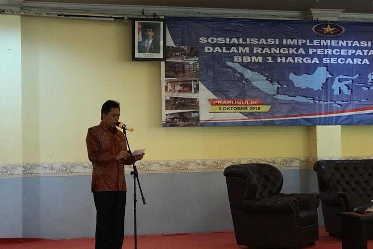 Kepala Badan Pengatur Hilir Minyak dan Gas Bumi (BPH Migas) Fanshurullah Asa saat di Prabumulih, Sumatera Selatan, Rabu (3/10/2018).