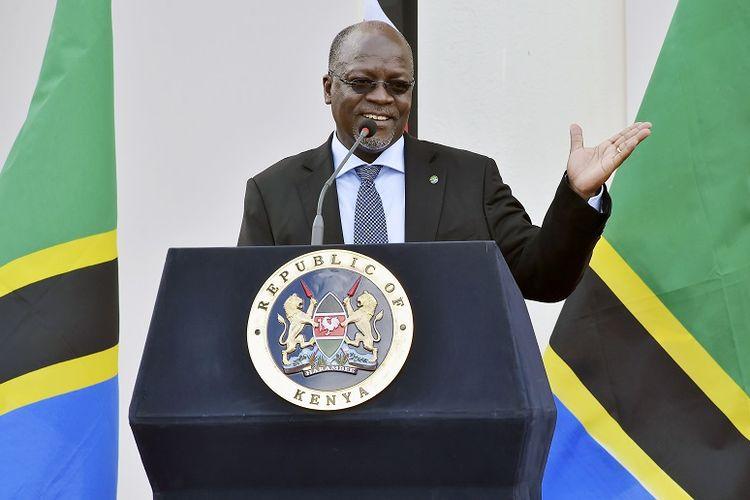 Presiden Tanzania John Magufuli saat berkunjung ke Kenya pada 2016.