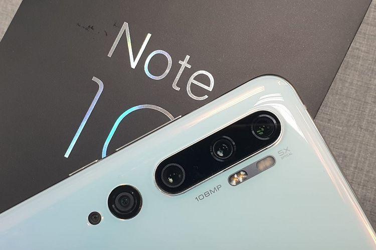 Mi Note 10 Pro dengan kamera 108MP.