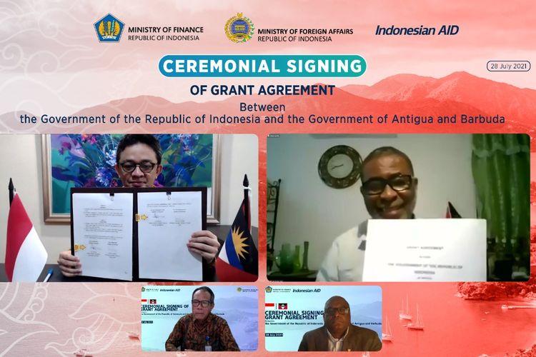 Indonesia memberikan bantuan untuk memperkuat kerja sama dengan Antigua dan Barbuda
