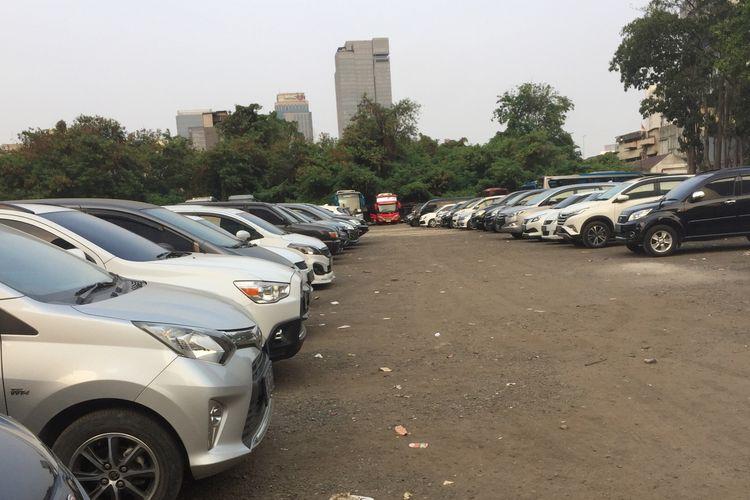 Kondisi park and ride MH Thamrin, Jakarta Pusat yang akan ditutup, Jumat (6/9/2019).