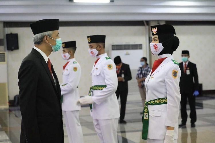 Ina Kurniasih anggota Paskibra tingkat Provinsi Jawa Tengah
