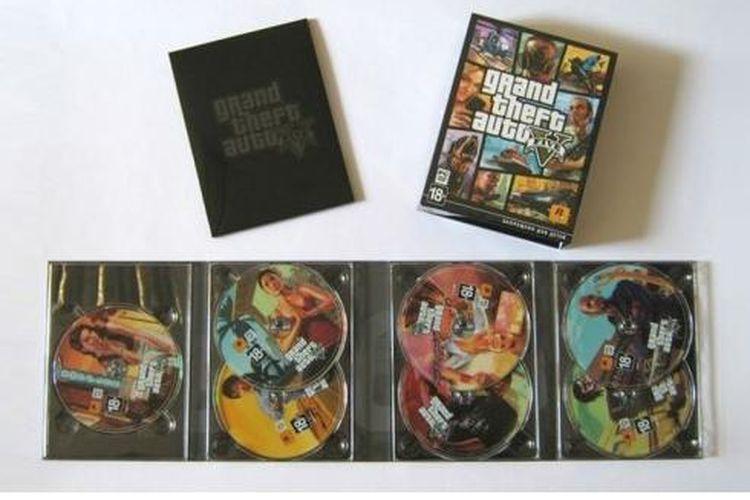 GTA V untuk PC terdiri dari 7 keping DVD