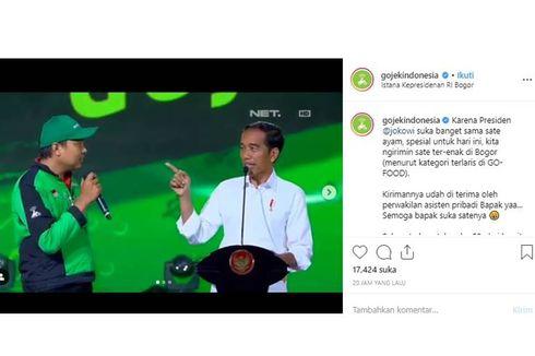 Ulang Tahun Ke-58, Jokowi Dapat Kado Sate Ayam dari Go-Jek