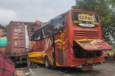 Detik-detik Bus PO Sugeng Rahayu Tabrak Truk Kontainer di Wates, 2 Tewas dan Korban Terjepit