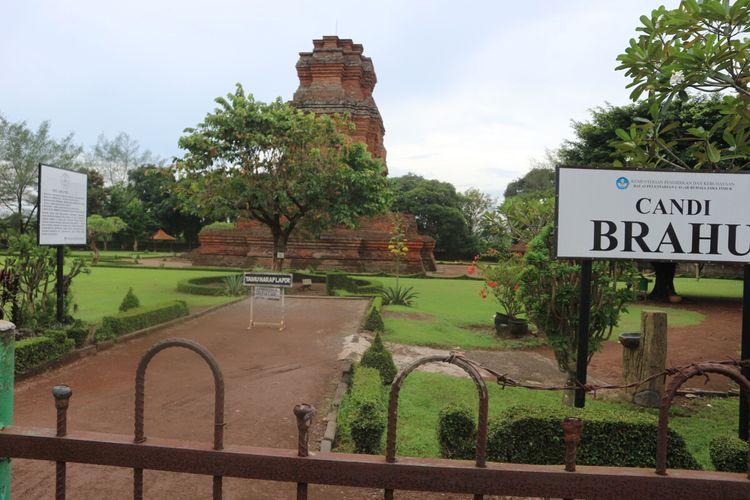 Candi Brahu di Desa Bejijong, Kecamatan Trowulan, Kabupaten Mojokerto, Jawa Timur, ditutup untuk umum guna mengantisipasi penyebaran Covid-19.