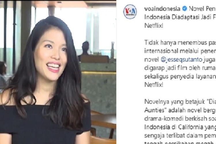 Jesse Q Sutanto dalam wawancara bersama Voice of America.